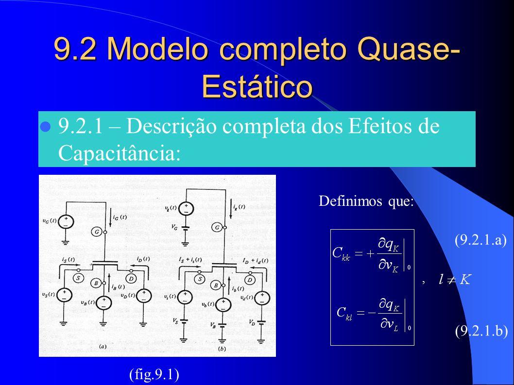 9.2 Modelo completo Quase-Estático