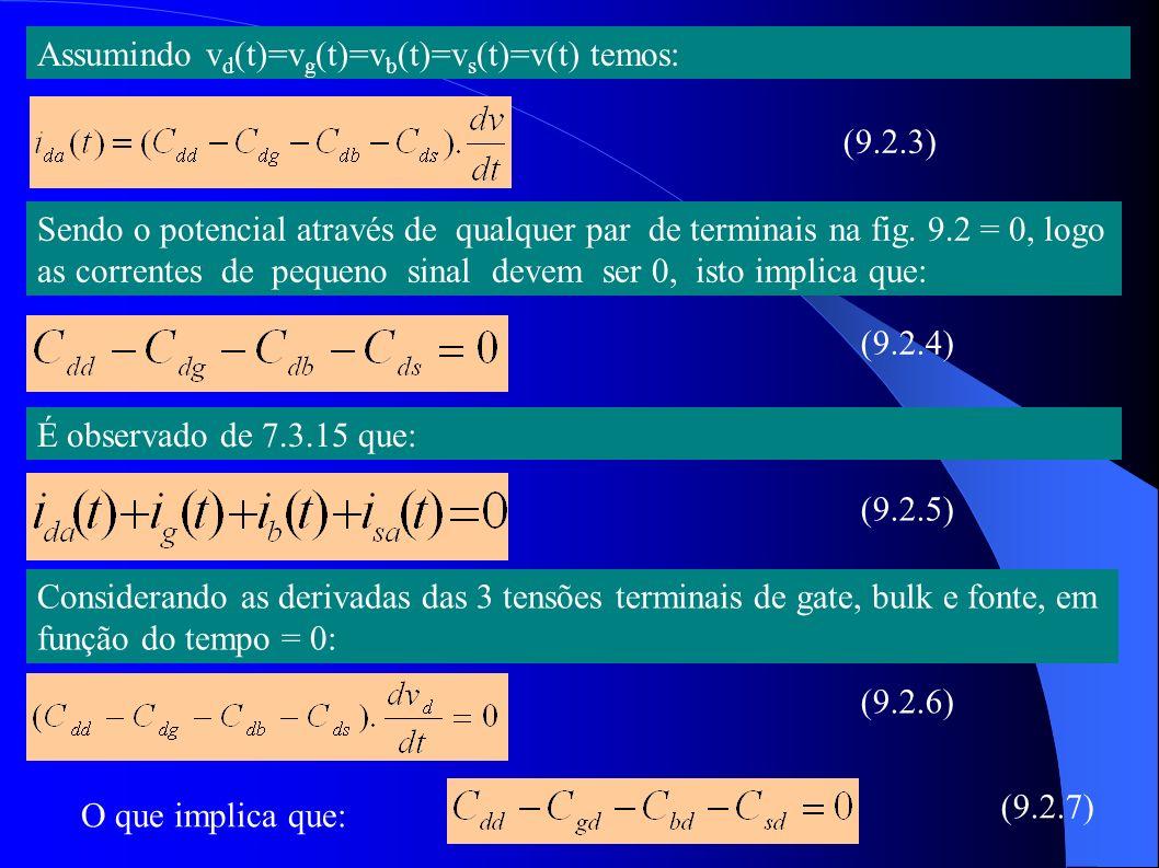 Assumindo vd(t)=vg(t)=vb(t)=vs(t)=v(t) temos:
