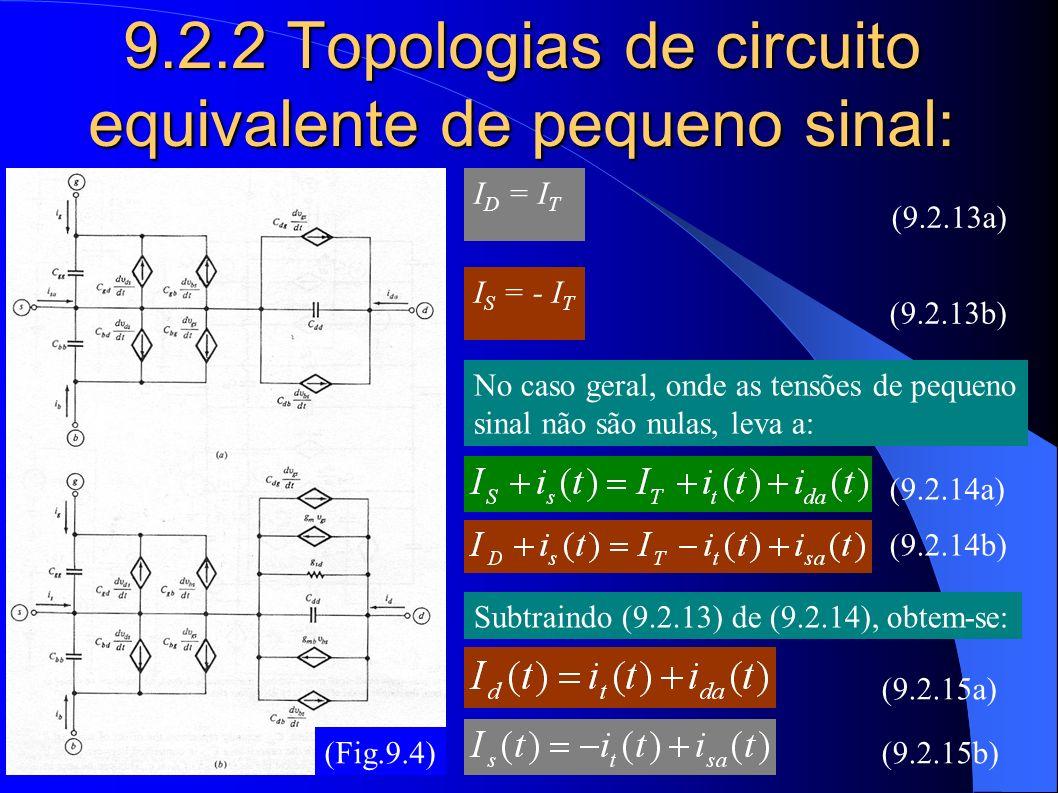 9.2.2 Topologias de circuito equivalente de pequeno sinal: