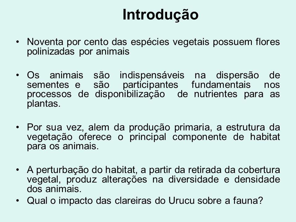 IntroduçãoNoventa por cento das espécies vegetais possuem flores polinizadas por animais.