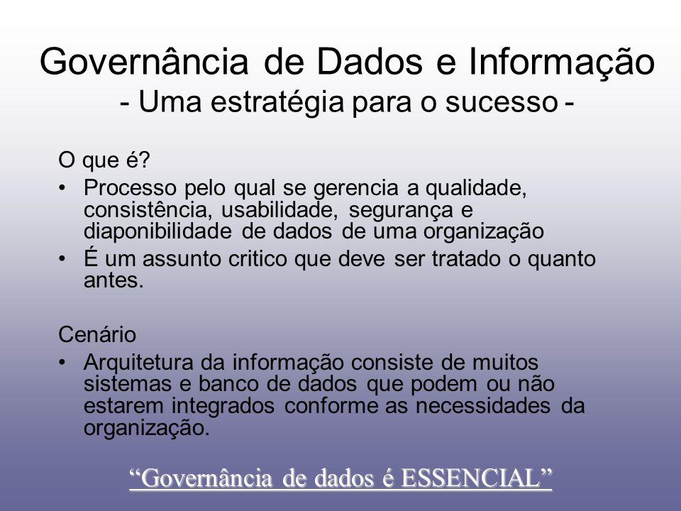 Governância de Dados e Informação - Uma estratégia para o sucesso -
