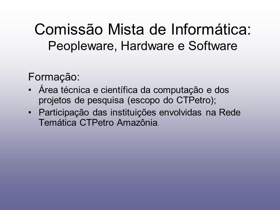 Comissão Mista de Informática: Peopleware, Hardware e Software