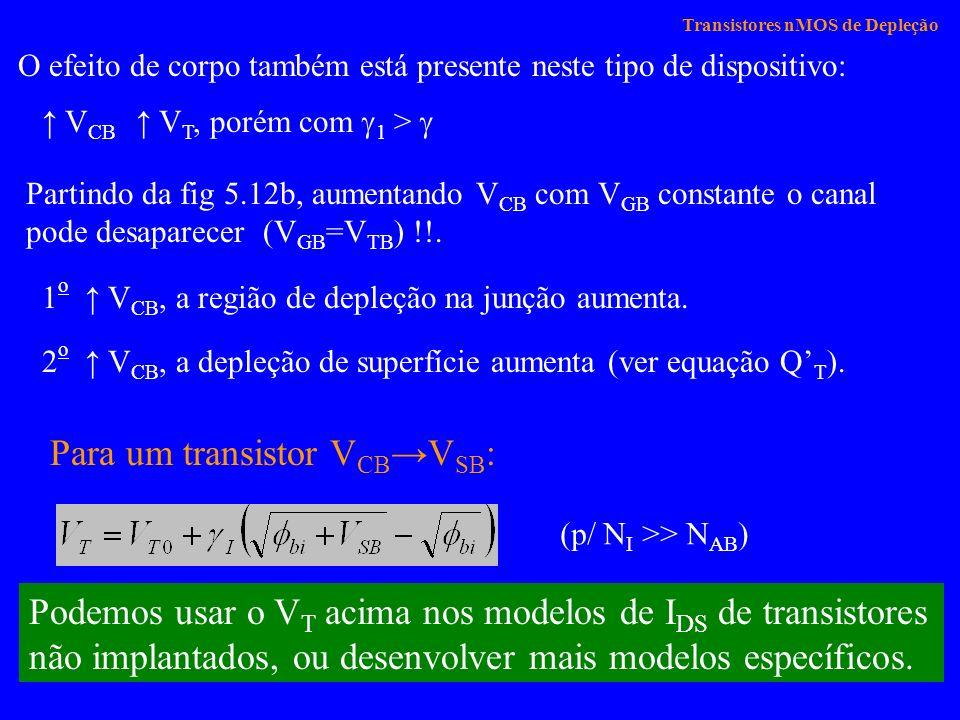 Transistores nMOS de Depleção