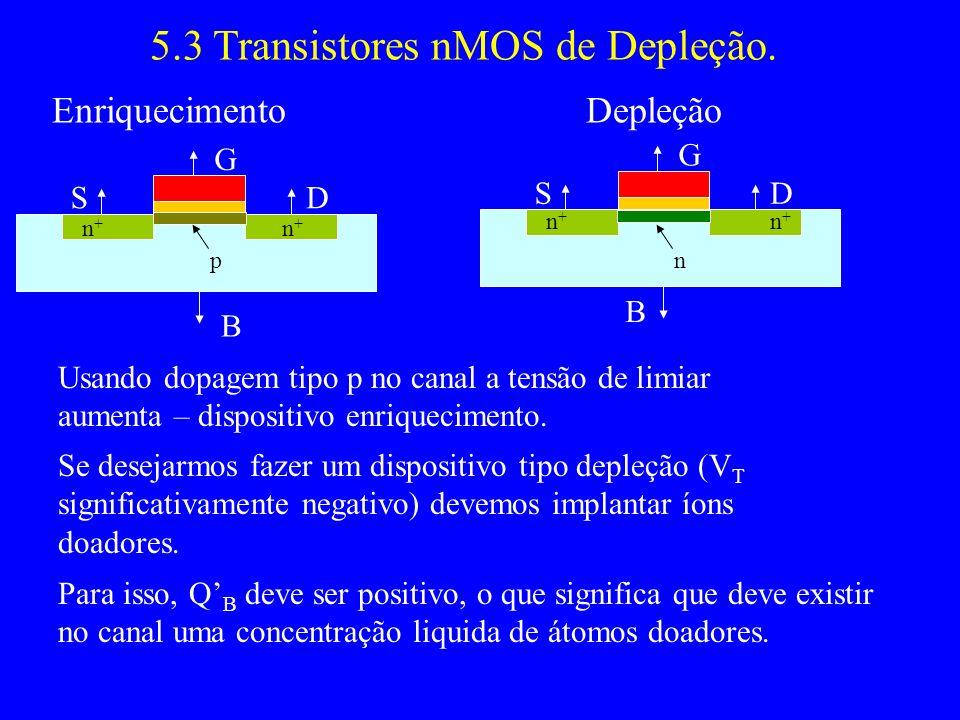 5.3 Transistores nMOS de Depleção.
