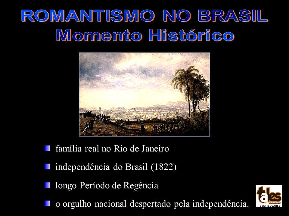 ROMANTISMO NO BRASIL Momento Histórico. família real no Rio de Janeiro. independência do Brasil (1822)