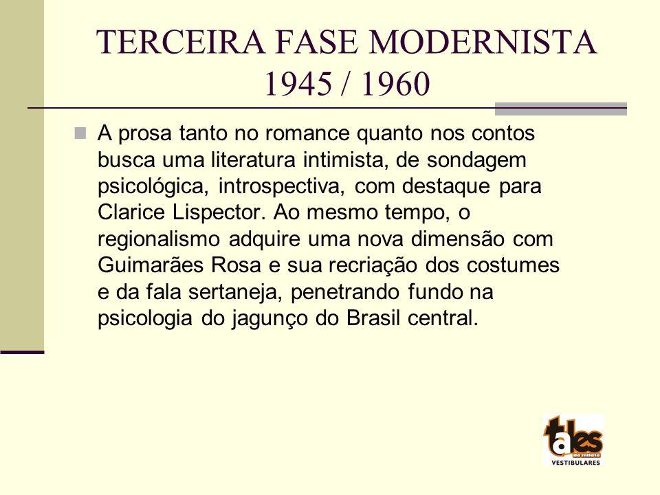 TERCEIRA FASE MODERNISTA 1945 / 1960