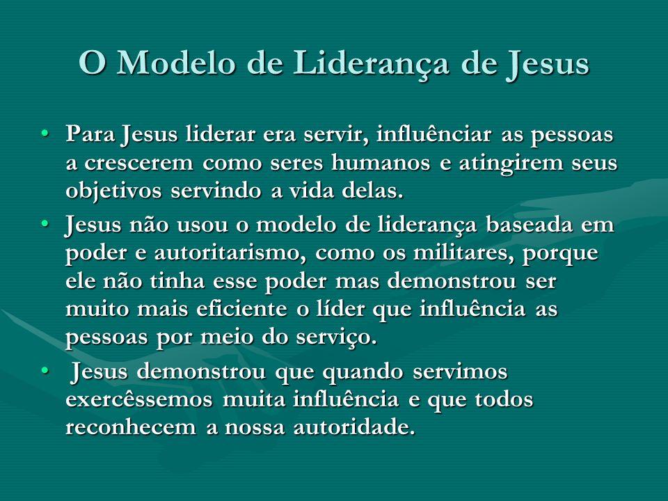 O Modelo de Liderança de Jesus