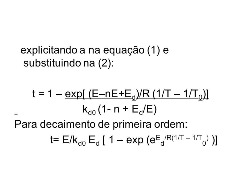 explicitando a na equação (1) e substituindo na (2):