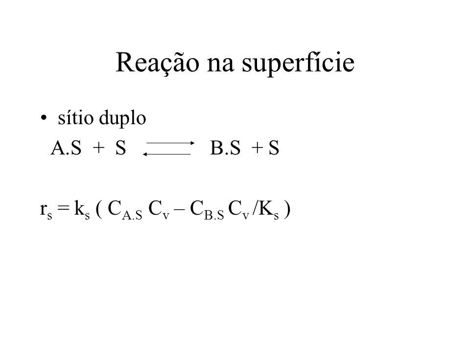 Reação na superfície sítio duplo A.S + S B.S + S