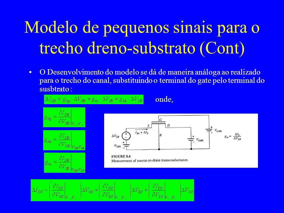 Modelo de pequenos sinais para o trecho dreno-substrato (Cont)