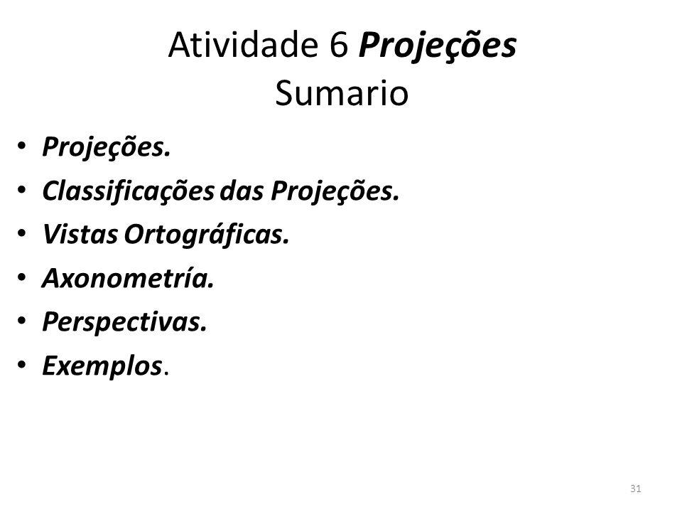 Atividade 6 Projeções Sumario