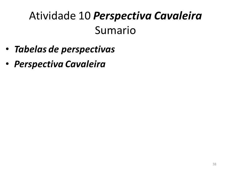 Atividade 10 Perspectiva Cavaleira Sumario