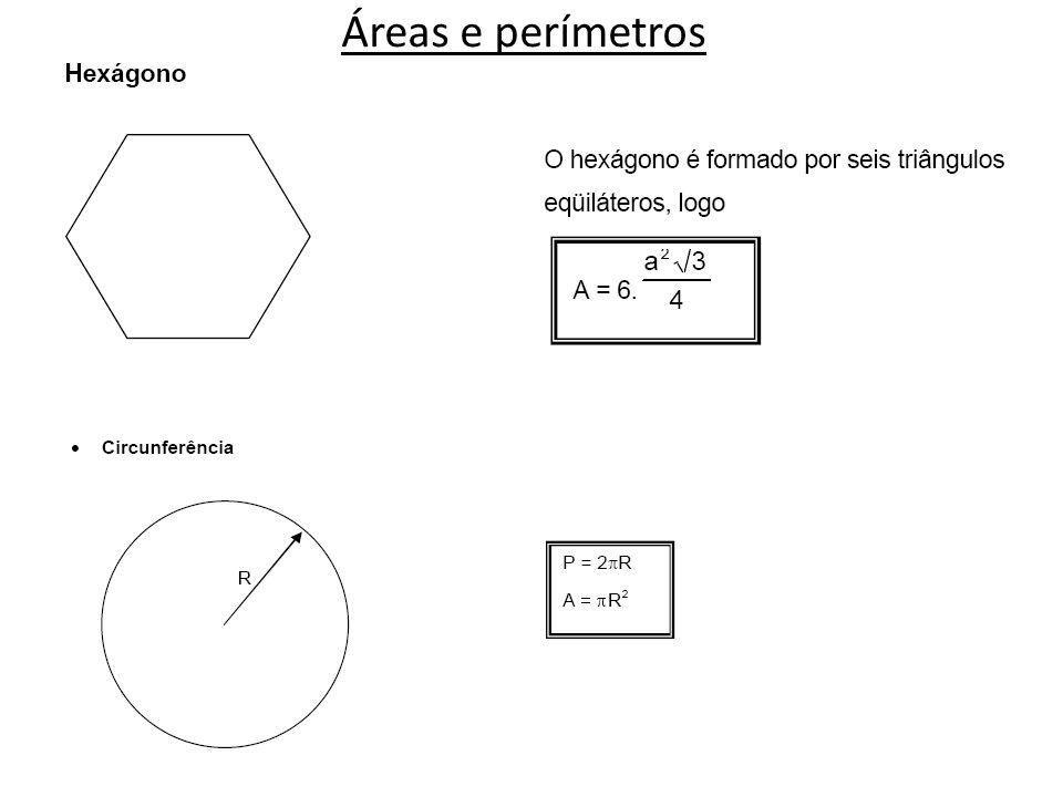 Áreas e perímetros