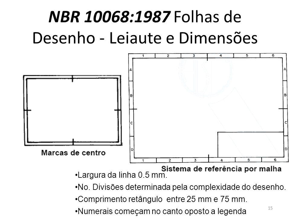 NBR 10068:1987 Folhas de Desenho - Leiaute e Dimensões