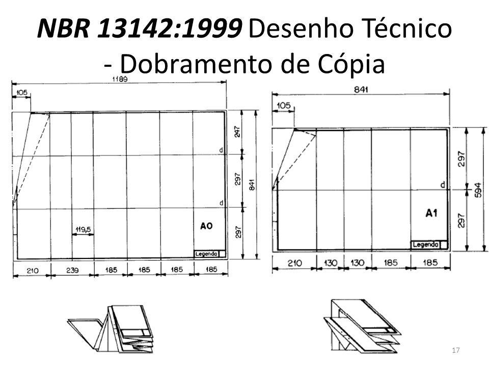NBR 13142:1999 Desenho Técnico - Dobramento de Cópia