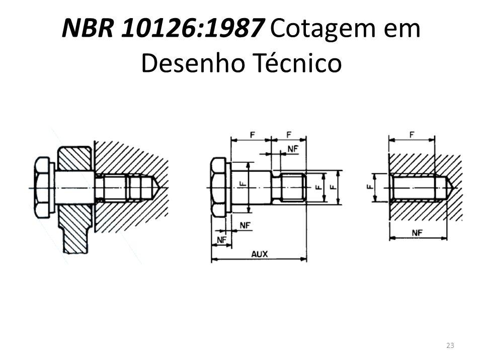 NBR 10126:1987 Cotagem em Desenho Técnico