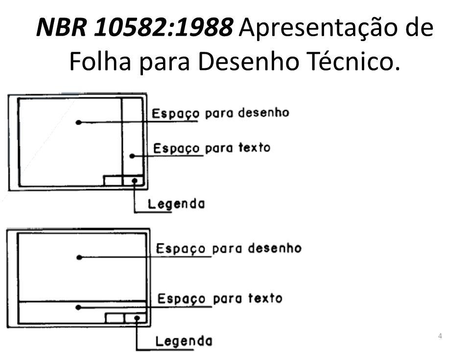 NBR 10582:1988 Apresentação de Folha para Desenho Técnico.