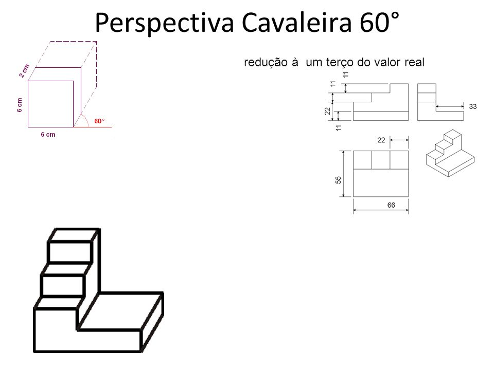 Perspectiva Cavaleira 60°