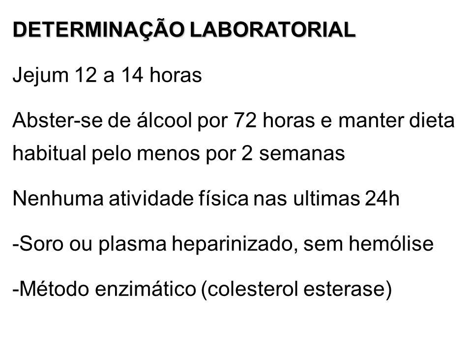 DETERMINAÇÃO LABORATORIAL