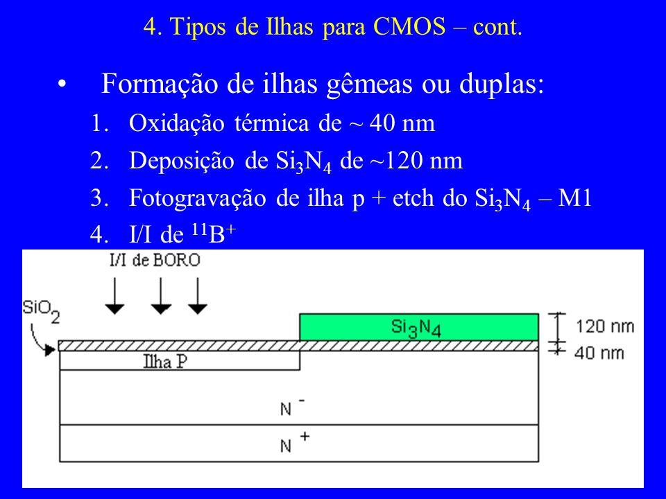 4. Tipos de Ilhas para CMOS – cont.