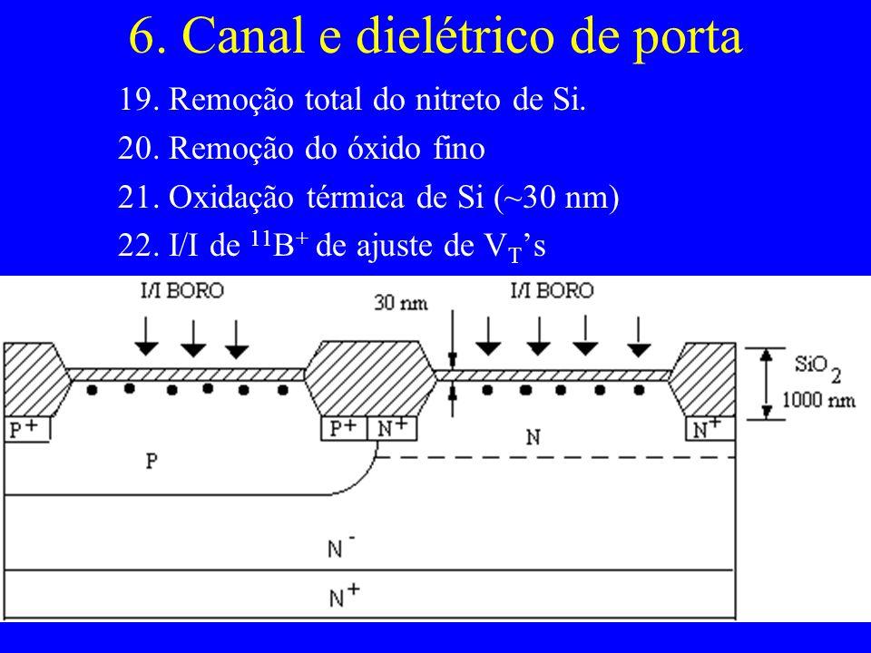 6. Canal e dielétrico de porta