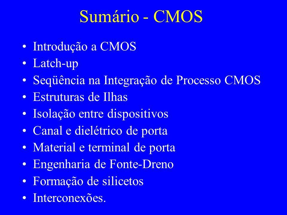 Sumário - CMOS Introdução a CMOS Latch-up