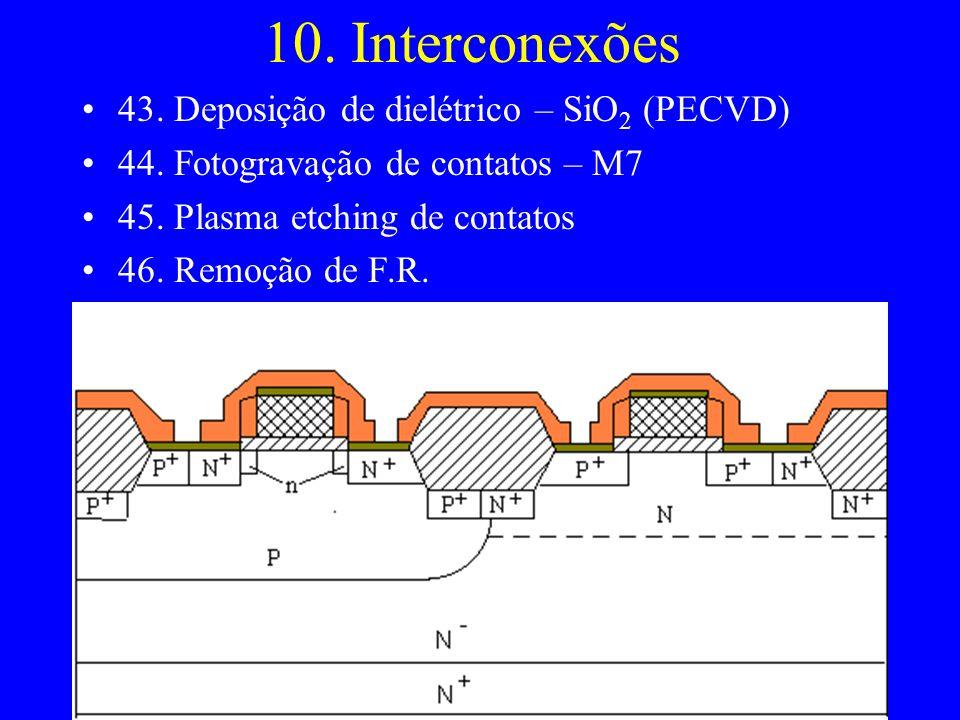 10. Interconexões 43. Deposição de dielétrico – SiO2 (PECVD)