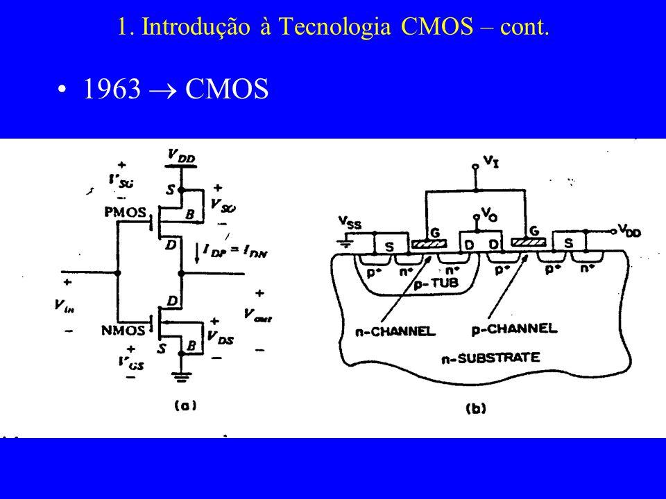1. Introdução à Tecnologia CMOS – cont.