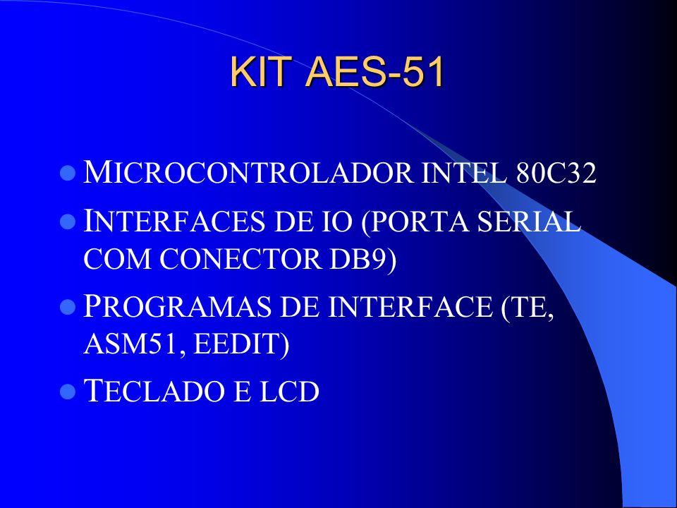KIT AES-51 MICROCONTROLADOR INTEL 80C32