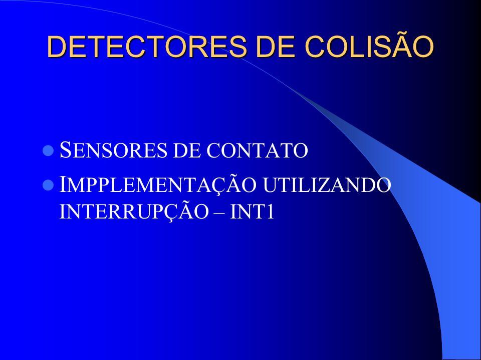 DETECTORES DE COLISÃO SENSORES DE CONTATO