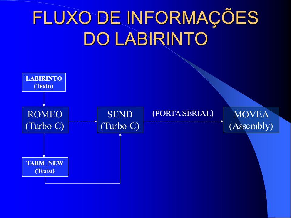 FLUXO DE INFORMAÇÕES DO LABIRINTO