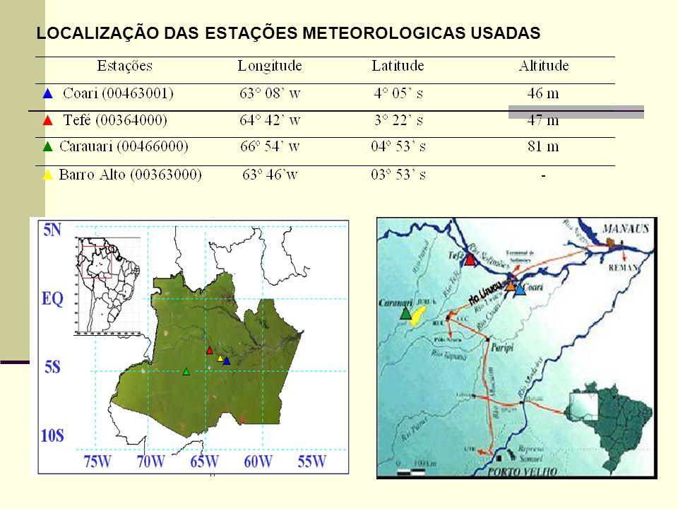 LOCALIZAÇÃO DAS ESTAÇÕES METEOROLOGICAS USADAS