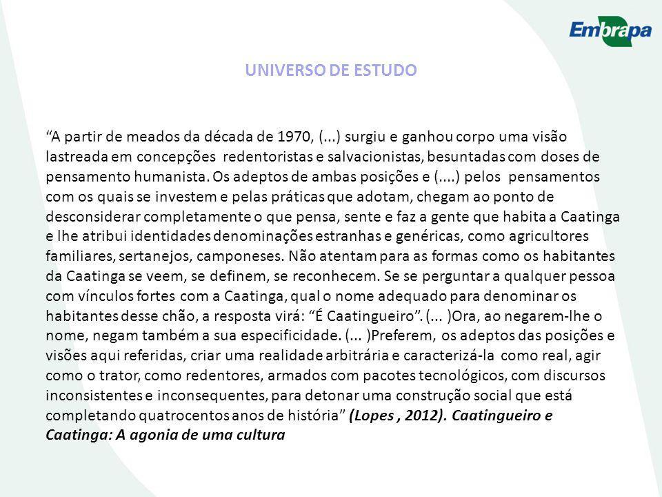UNIVERSO DE ESTUDO