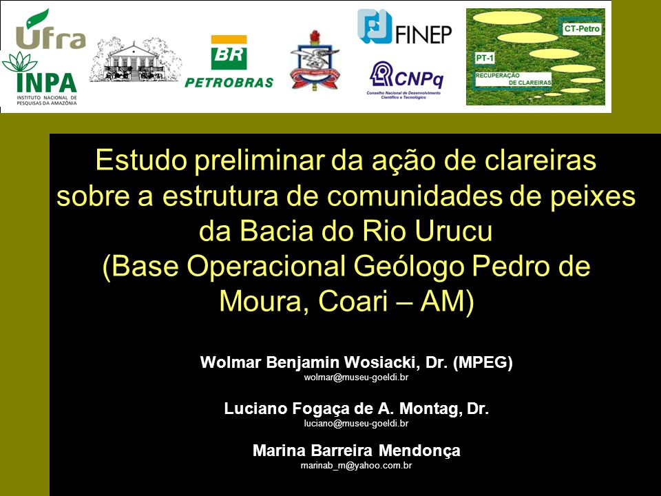 Estudo preliminar da ação de clareiras sobre a estrutura de comunidades de peixes da Bacia do Rio Urucu (Base Operacional Geólogo Pedro de Moura, Coari – AM)