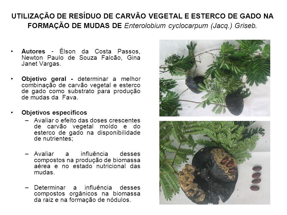 UTILIZAÇÃO DE RESÍDUO DE CARVÃO VEGETAL E ESTERCO DE GADO NA FORMAÇÃO DE MUDAS DE Enterolobium cyclocarpum (Jacq.) Griseb.