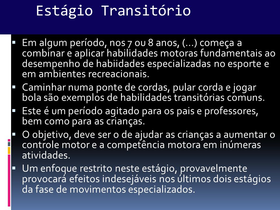 Estágio Transitório