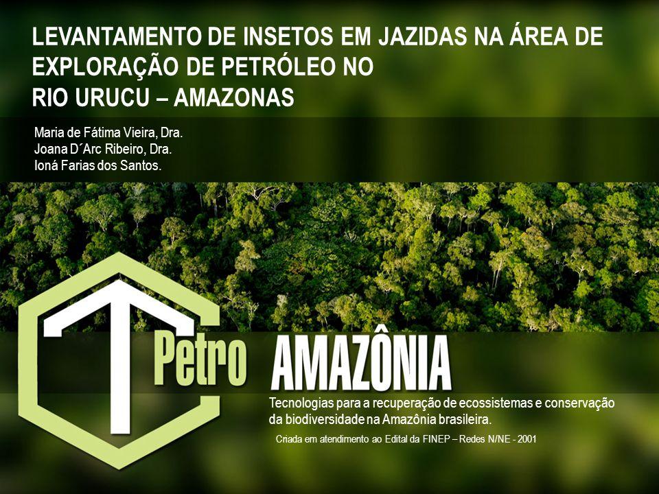 LEVANTAMENTO DE INSETOS EM JAZIDAS NA ÁREA DE EXPLORAÇÃO DE PETRÓLEO NO