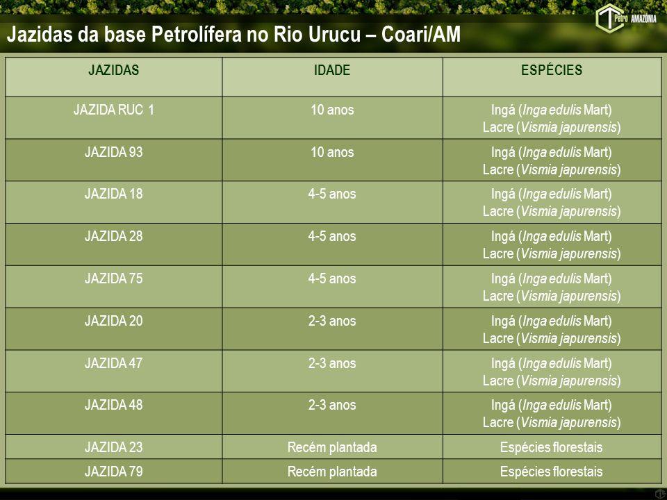 Jazidas da base Petrolífera no Rio Urucu – Coari/AM