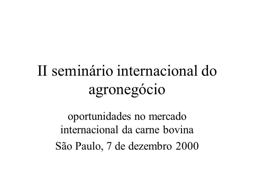 II seminário internacional do agronegócio