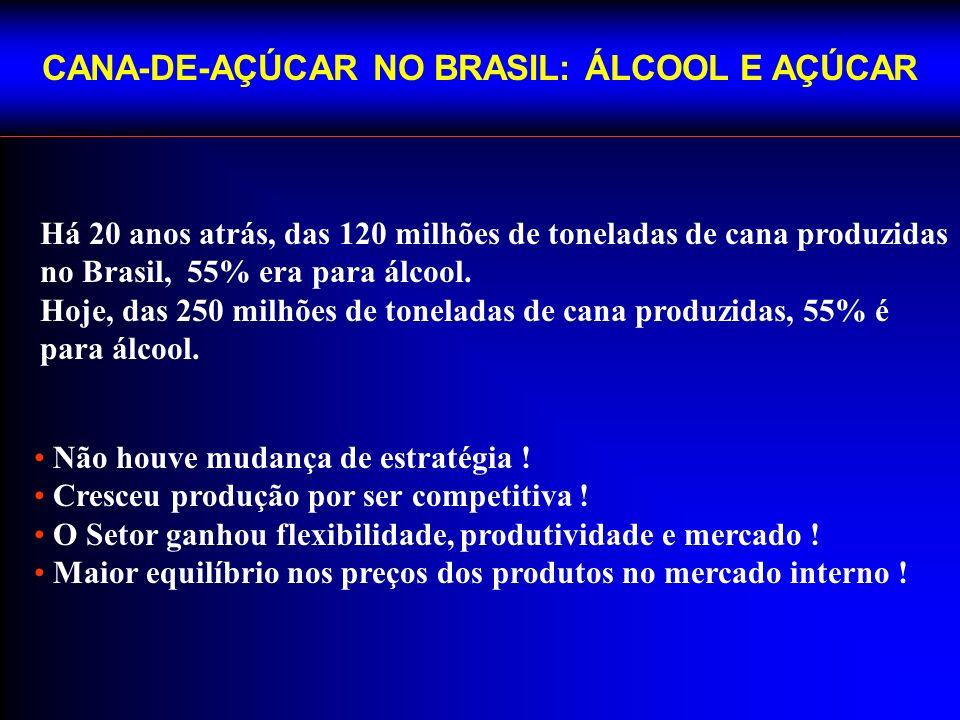 CANA-DE-AÇÚCAR NO BRASIL: ÁLCOOL E AÇÚCAR