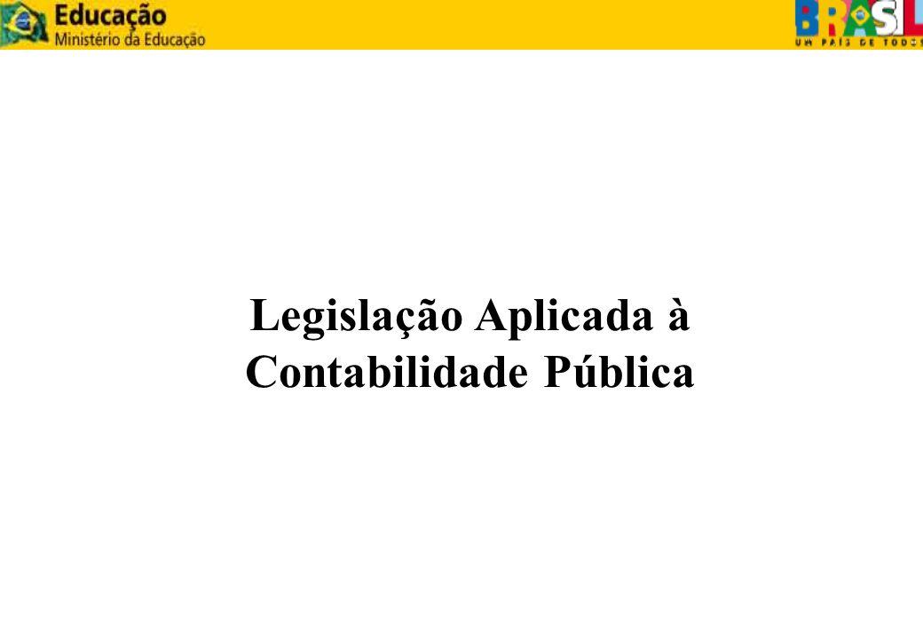 Legislação Aplicada à Contabilidade Pública