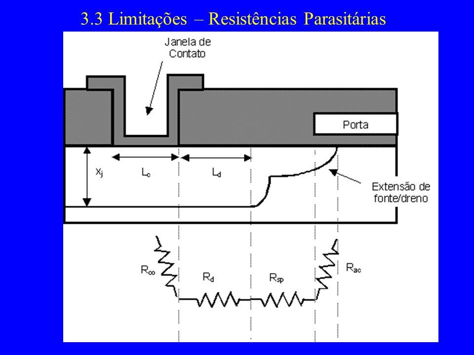 3.3 Limitações – Resistências Parasitárias