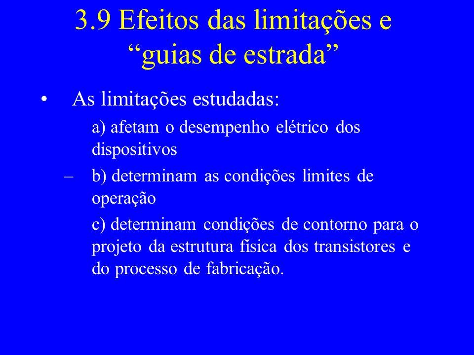 3.9 Efeitos das limitações e guias de estrada