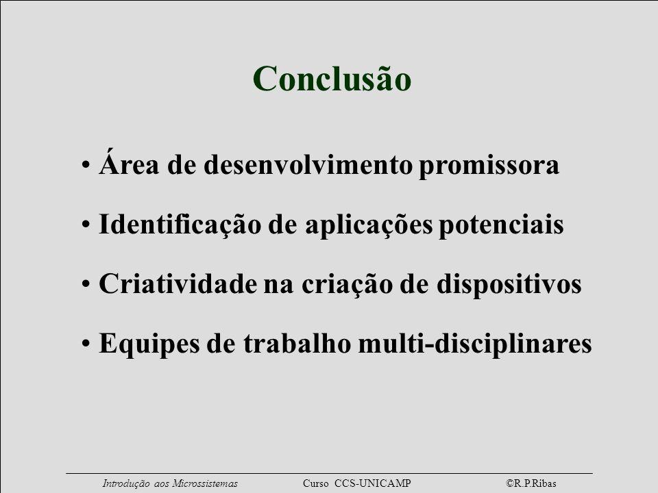 Conclusão Área de desenvolvimento promissora