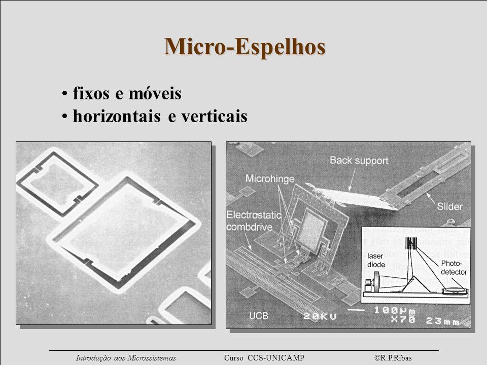 Micro-Espelhos fixos e móveis horizontais e verticais