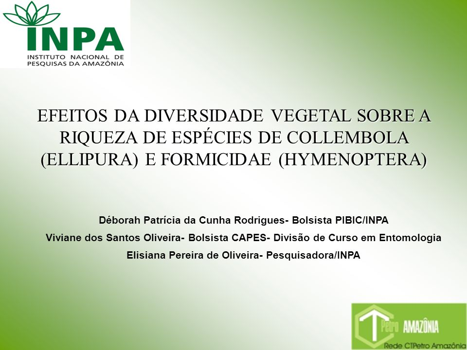 Elisiana Pereira de Oliveira- Pesquisadora/INPA