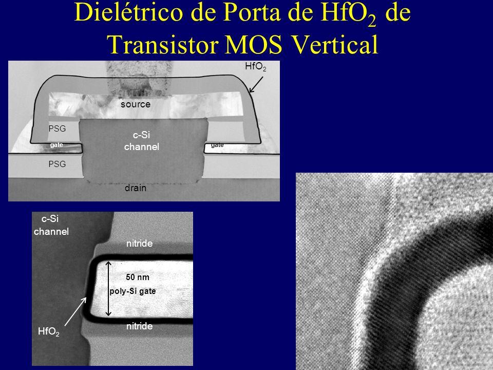 Dielétrico de Porta de HfO2 de Transistor MOS Vertical