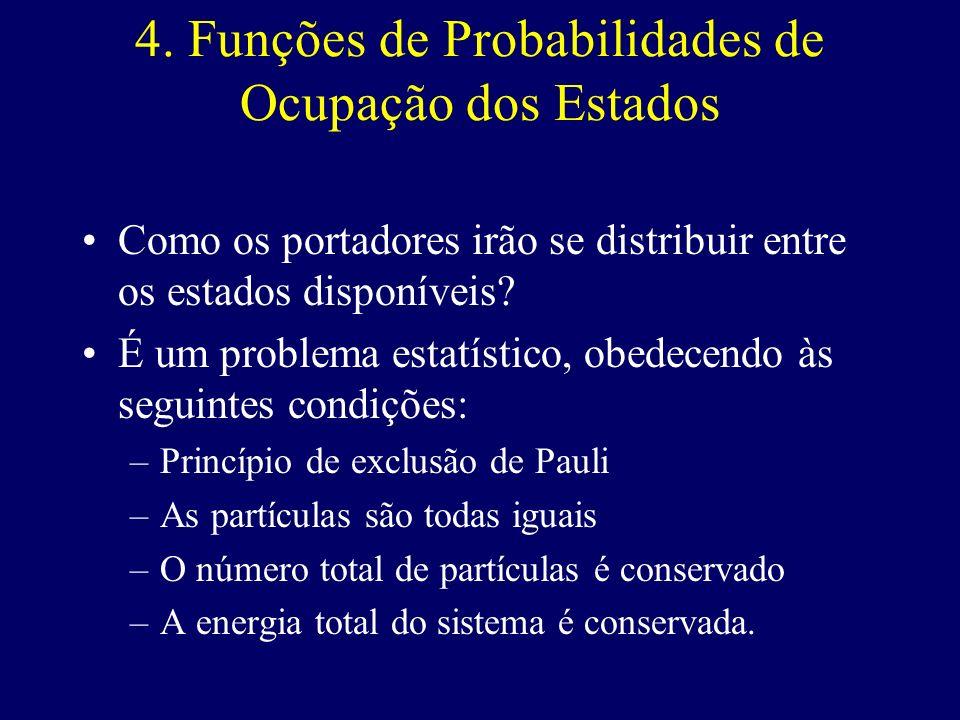 4. Funções de Probabilidades de Ocupação dos Estados