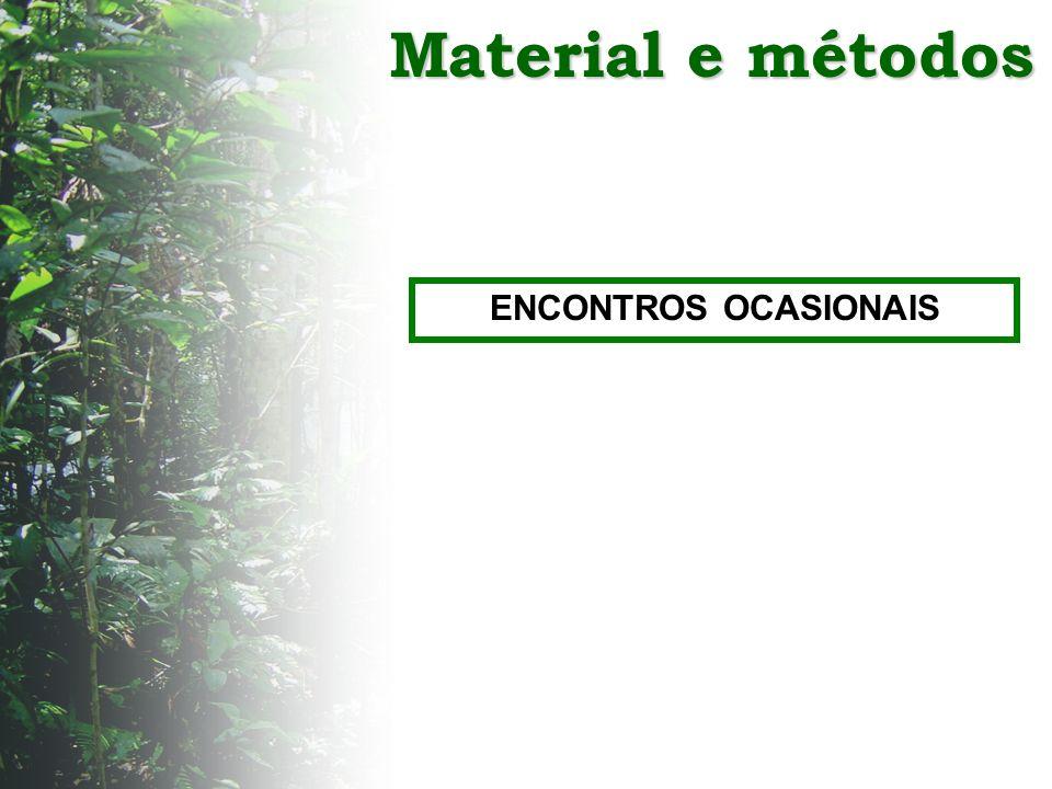 Material e métodos ENCONTROS OCASIONAIS