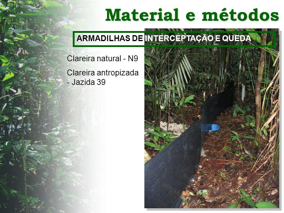 Material e métodos ARMADILHAS DE INTERCEPTAÇÃO E QUEDA
